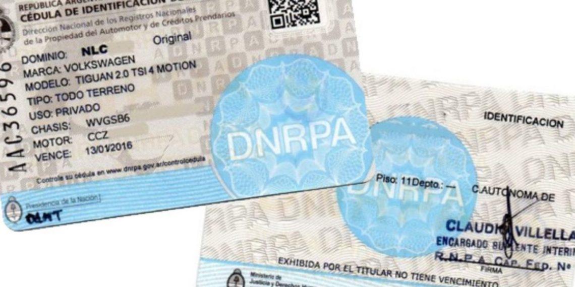 Cédulas de identificación digital de tu vehículo.